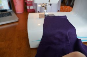 Sewing an un-even stitch (still learning!)