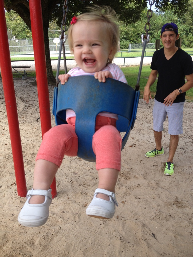 audrey swinging
